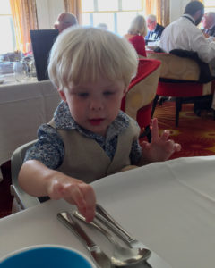 Elliot in the Main Dining Room on Celebrity Silhouette
