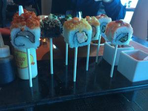 Qsine's Sushi Lollipops