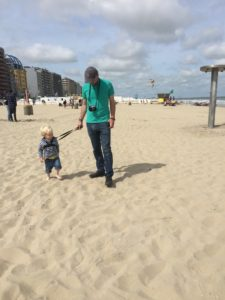 On the beach at Blankenberge